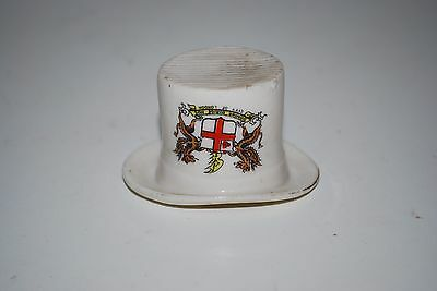 Top Hat City Of London Match Striker Crested Ware Unmarked