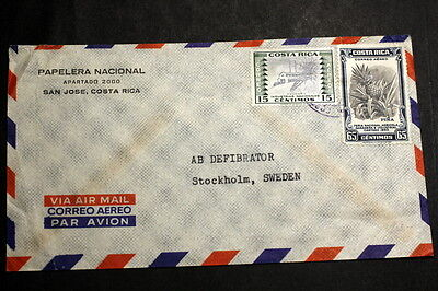 Costa Rica cover to Sweden M-012