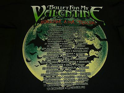 BULLET FOR MY VALENTINE 2008 Scream Aim Tour T Shirt Size S