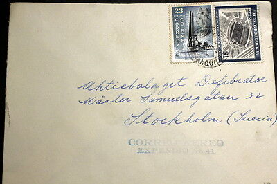 Colombia 1955 cover to Sweden M-007