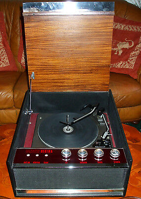 Vintage Dansette Regina Record Player Turntable Deck - Fully Serviced