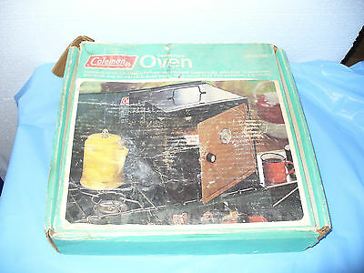 Vintage Coleman Folding Camp Oven ~ NO LID or Rack ~ Camping Stove w/Box GUC