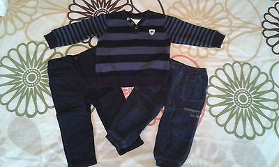 Boys trousers and jumper bundle, 12-18 months, F&F, Matalan