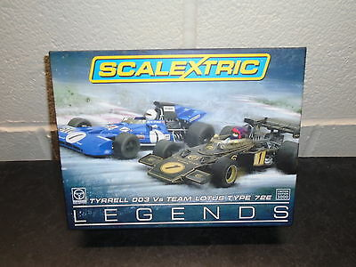 """Scalextric C3479A """"Tyrell 003 v Lotus 72E"""" F1 Legends twin pack   m/b"""