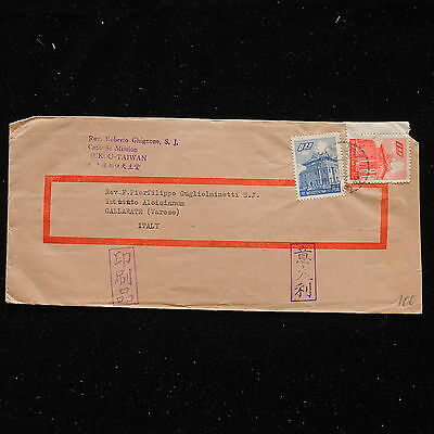 WS-G201 TAIWAN - Cover, Fine Franking To Gallarate Varese Italy