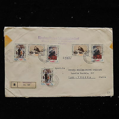 WS-G220 SOMALIA - Lenin, Great Franking To Italy, 2 Sets 1970 FDC Cover