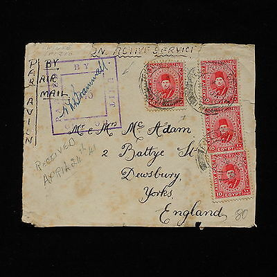WS-G250 EGYPT - Field Post, Airmail Censored 1941 To England Front Of Cover