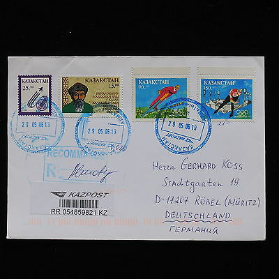 WS-G292 KAZAKHSTAN - Olympic Games, Winter, Reg. Almaty 2006 To Germany Cover