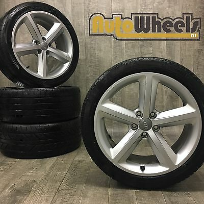 4 18 used genuine Audi a4 s line alloy wheels & tyres sport a6 vw