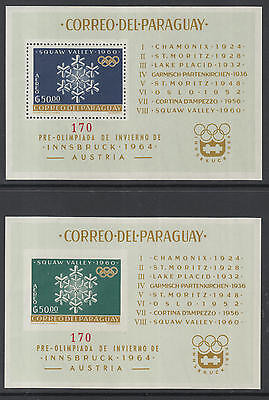 WS-G434 OLYMPIC GAMES - Paraguay, 1963 Squaw Valley, Perf+Imp, N.170 Sheets MNH
