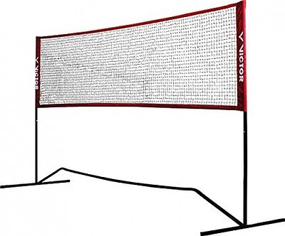 Victor Premium Mini Net - Badminton and Tennis - 3m Wide With Adjustable Height