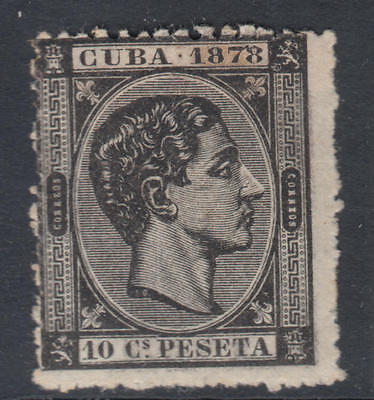 WS-G549 SPAIN - Alfonso Xii, Havana, 1878 Dated 1878, 10C Black Sc.77 MH