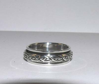 Celtic Knot Petite Spinner Ring Sterling Silver Sizes 5.5, 6.5