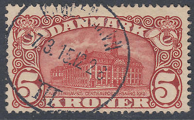 WS-G555 DENMARK - Post Office, 1912 General, Copenhagen, 5K Dark Red Sc.82 Used