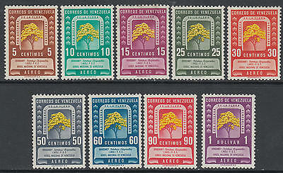 WS-G636 VENEZUELA - Set, 1950 Forest Week, Dry Gum Defective Sc.293/301 MNH