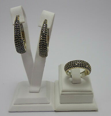 925 Sterling Silver Handmade Jewelry Earring & Ring Sets New Design