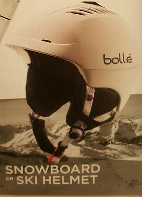 Bolle Vented Snowboard or Ski Helmet Winter Sports Unisex Adults Sizes S~L White