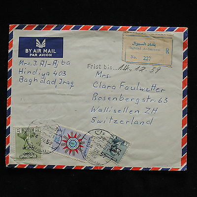 WS-G732 IRAQ - Cover, Baghdad As-Samawal 1959 To Switzerland