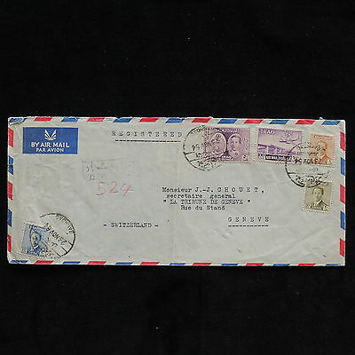 WS-G738 IRAQ - Cover, Registered Baghdad, 1954 To Switzerland