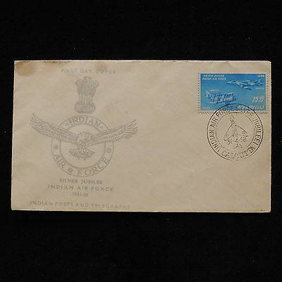 WS-G765 INDIA IND - Fdc, Silver Jubilee Royal Air Force 1958 Cover