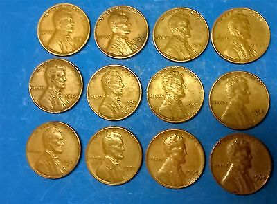 United States 1 cent 1929 - 1968 - 12 coins