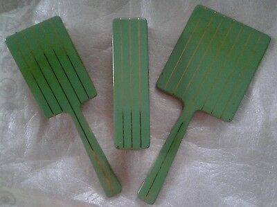 Vintage-Rare-Collectable Square Vanity Set,mirror, Hairbrush,clothes Brush
