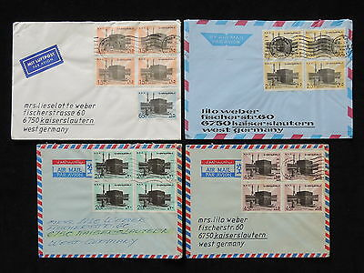 WS-G947 SOUTH ARABIA - Block Of $, Tiyah To Germany, 1980 Meccah 4 Covers