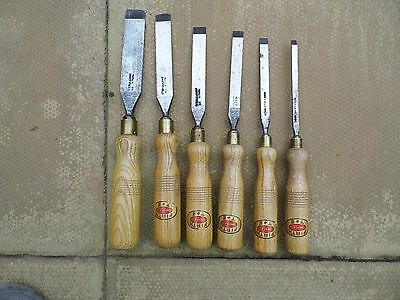 Set Of Six Vintage Woodworking  Chisels