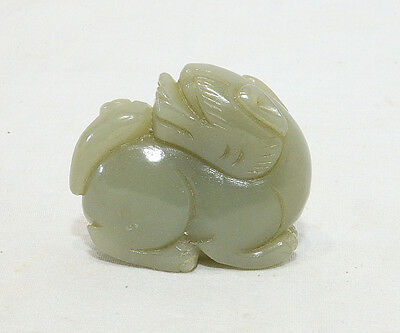 Nice  Hand  Carved  Chinese  Table  Ornament of Jade  Dog