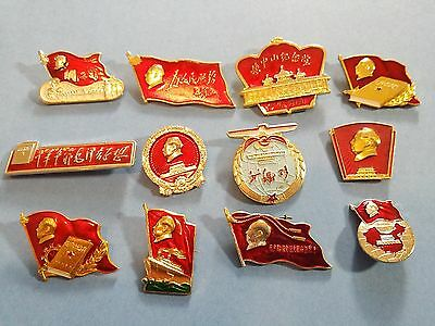 #29 China Pin Chinese Badge Chairman Mao in the Banner Collection