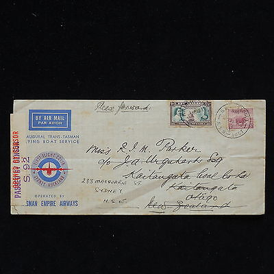 WS-H124 AUSTRALIA COVERS - New Zealand, Sydney-Auckland Ffc 1940 And Return