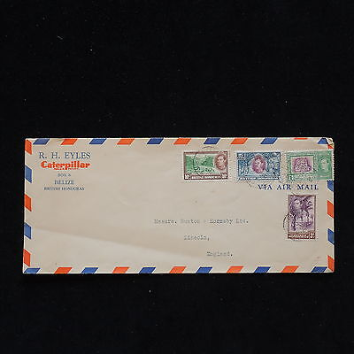 WS-H130 BRITISH HONDURAS - Belize, Headed Caterpillar Cat, To England 1939 Cover