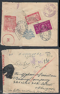 WS-H209 AFGHANISTAN - Censored, British Label, Kaboul 1941 To New York Usa Cover