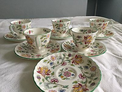 Minton coffee cups and saucers haddon hall