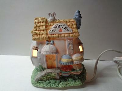 Pastel Porcelain Easter Egg Grocery Village House light cord w line switch