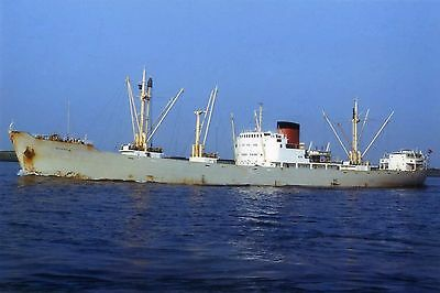 6x4 SIZE PHOTOGRAPH OF THE DANISH CARGO SHIP  NORDHOLM