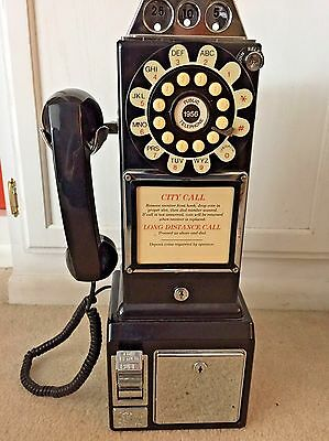 Vintage LIMITED EDITION THOMAS Phone Model 1956  Coin Operated Rotary Pay Phone