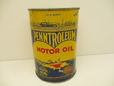 Penntroleum Motor Oil Can - 1 Quart Qt - Oklahoma City