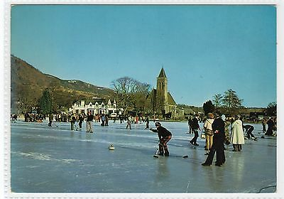 A CURLING BONSPIEL AT LAKE OF MENTEITH: Stirlingshire postcard (C24618)