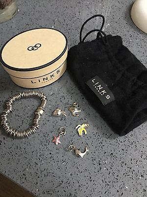 Stunning Links Of London Bracelet With 5 Charms