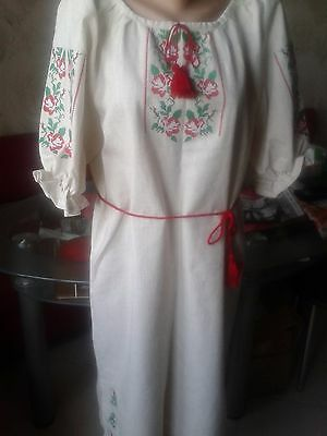 Ukrainian embroidery, embroidered dress, S-M