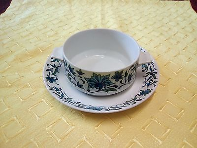 Midwinter - One Lugged Soup Bowl And Plate -  Spanish Garden