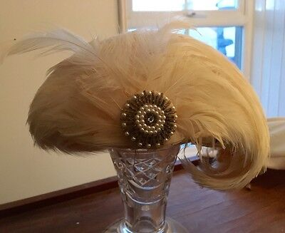 Stunning Art Deco feather hat - in need of some attention