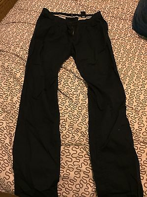 H&M Navy Trousers Size 14 Women's