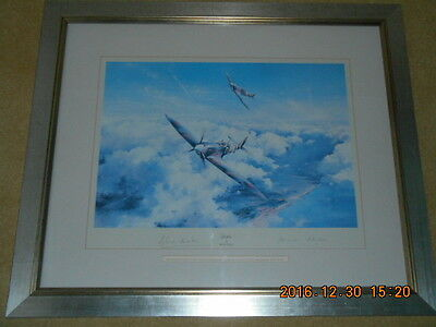 SPITFIRE by Robert Taylor Signed By Douglas Bader and Johnnie Johnson