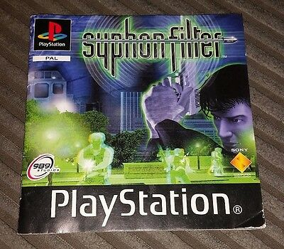 Playstation / PS1 - SYPHON FILTER - Manual Only