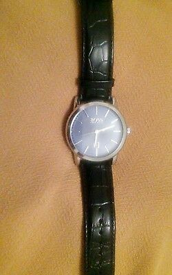 Men's Hugo Boss Stainless Steel Watch With Leather Strap