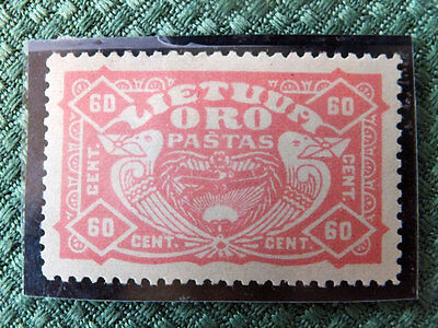 1924 Lithuania Airmail Stamp - mi.#222Y - MH OG - signed