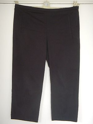 Ladies Black Cropped Evening Trousers - M&s Size 12Short