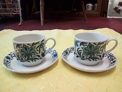 Midwinter - Spanish Garden -  Set Of Two Cups and Saucers-